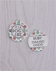 Personalised Dogs Life ID Tag and Collar