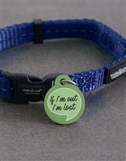 Personalised If Im Out ID Tag and Collar