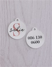 Personalised Initial And Name ID Tag and Collar