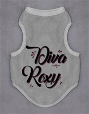 Personalised Diva Dog Fleece Jersey
