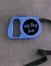 Personalised Wild Thing Retractable Dog Lead