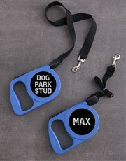 Personalised Little Dude Retractable Dog Lead