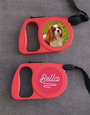 Personalised Classy Retractable Dog Lead
