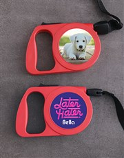 Personalised Retro Retractable Dog Lead