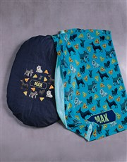 Personalised Dog Bed and Blanket