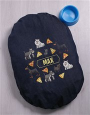 Personalised Dog Denim Bed