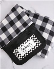 Personalised Monochrome Picnic Blanket