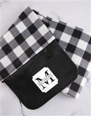 Personalised Classic Monogram Picnic Blanket