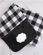 Personalised Floral Monogragm Picnic Blanket