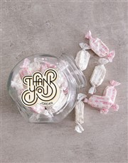 Personalised Thank You Candy Jar
