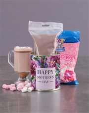 Personalised Mothers Day Hot Choc Floral Tin