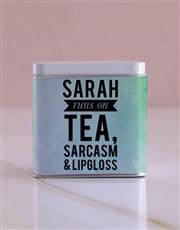 Personalised Runs on White Tea Tin