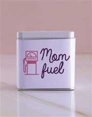 Personalised Mom Fuel White Tea Tin