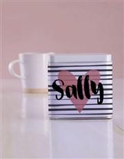 Personalised Heart White Tea Tin