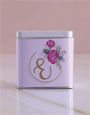 Personalised Floral Initial White Tea Tin