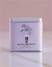 Personalised Birthday White Tea Tin