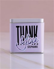 Personalised Thank You White Tea Tin