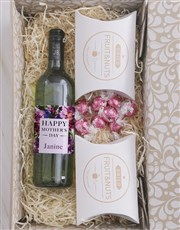 Personalised Fruits And Nuts Wine Hamper