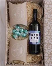 Personalised Rad Dad Snack Hamper
