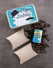 Personalised Birthday Gent Snack Tin