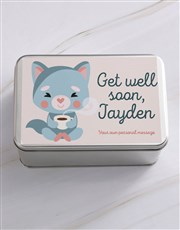 Personalised Get Well Gourmet Tin