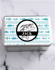 Personalised Fishing Snack Tin