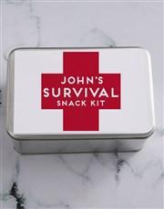 Personalised Survival Kit Snack Tin