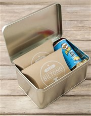 Personalised Good Luck Snack Tin
