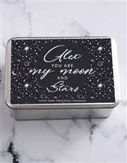 Personalised Moon And Stars Snack Tin