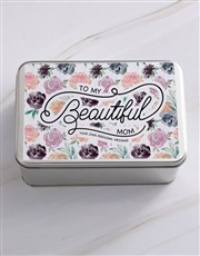 Personalised Beautiful Mom Snack Tin