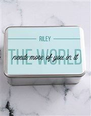 Personalised The World Needs More Snack Tin
