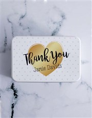 Personalised Thank You Chocolate Lolly Tin