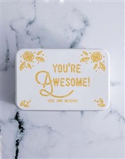 Personalised You Are Awesome Chocolate Lolly Tin