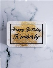 Personalised Glitter Birthday Chocolate Lolly Tin