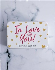 Personalised in Love Chocolate Lolly Tin
