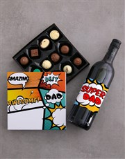 Personalised Best Dad Choc and Wine Combo