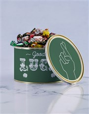 Personalised Good Luck Chocolate Passions Tin