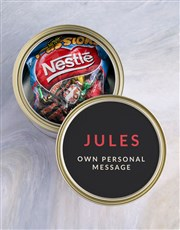 Personalised Sorry Chocolate Passions Tin