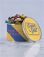 Personalised Duper Dad Chocolate Passions Tin