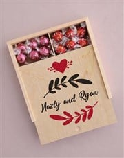 Personalised Leaf With Love Box Of Chocs