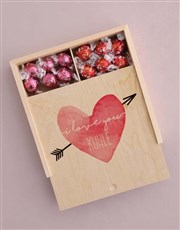 Personalised Heart And Arrow Box Of Chocs