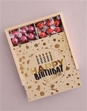 Personalised Gold Birthday Box Of Chocs