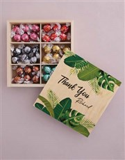 Personalised Thank You Box Of Chocs