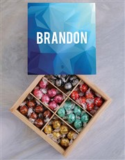 Personalised Blue Box Of Chocs
