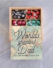 Personalised Greatest Dad  Box Of Chocs