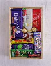 Personalised Hello Baby Chocolate Crate