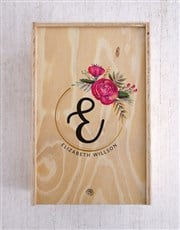 Personalised Floral Initial Chocolate Crate