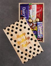 Personalised Happy Birthday Chocolate Crate