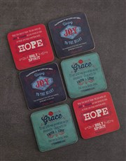 Personalised Wine and Coaster Blessing