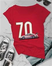 Personalised Ladies Year Car T Shirt